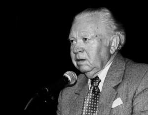 Henryk Mandelbaum podczas ostatniego pobytu w Olkuszu w 2007 r.