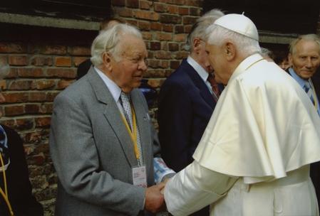 Henryk Mandelbaum z papieżem Benedyktem XVI