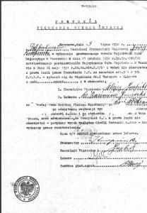 Protokół wykonania wyroku śmierci na Tadeuszu Cieśli