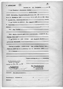 Stanisław Jaster (ojciec) - obozowy akt zgonu