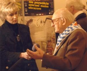 Józef Matynia udziela wywiadu w 2007 r.