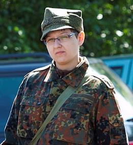 Daria Czarnecka lubi ubierać mundury wojskowe