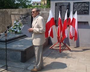 """Przemawia Włodzimierz Paluch, prezes Klubu """"Samborzan"""" w Oświęcimiu"""