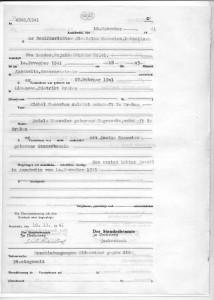 Akt zgonu Stanisława Wąsowicza, rozstrzelanego 11.11.1942 r.