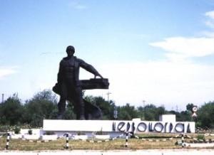 Pomnik górnika w Czerwonogradzie