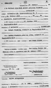 Akt zgonu Gertrudy Sykosz