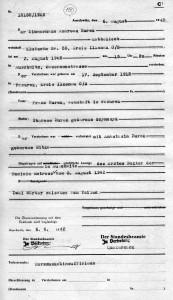 Obozowy akt zgonu Andrzeja Żurka