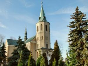 Wieża Kościóła Najświętszego Zbawiciela w Przegini, na której miał swoje stanowisko snajper niemiecki