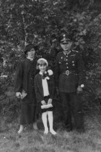 Władysław Kowanetz z żoną Julią i córką Izabelą