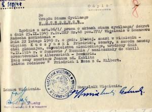 Fotokopia z akt sądowych Friedricha Kuczyńskiego