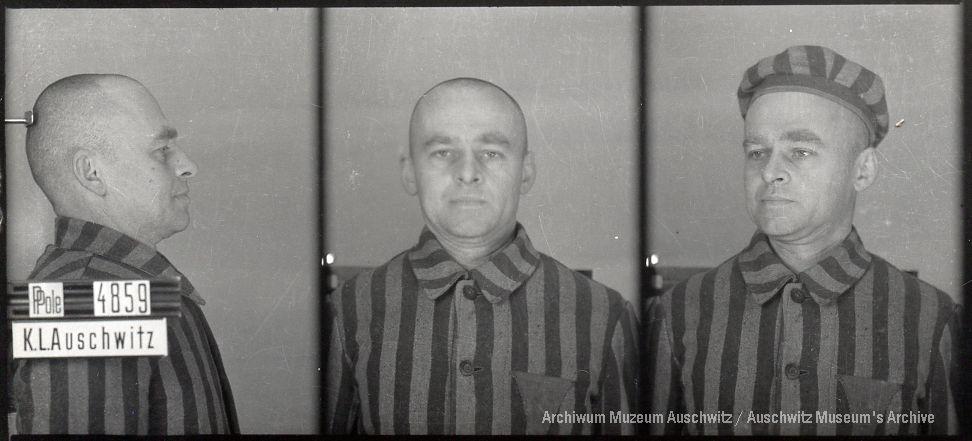 Witold Pilecki (w obozie Tomasz Serafiński), fotografia obozowa