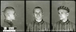 Jan Olszyński (syn), zdjęcie wykonane przez obozowe gestapo