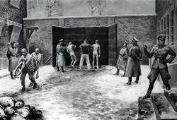 Egzekucja pod Ścianą Straceń, obraz b. więźnia Władysława Siwka