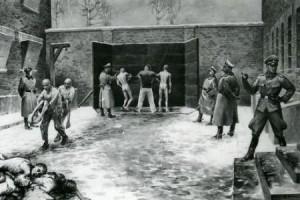 Rozstrzeliwanie pod Ścianą Straceń, obraz b. więźnia Władysława Siwka
