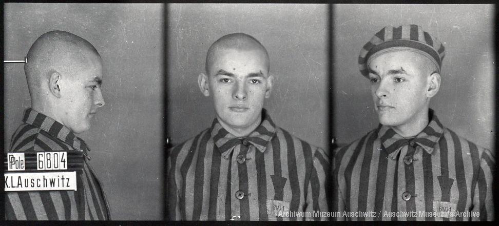 August Kowalczyk, zdjęcie wykonane przez obozowe gestapo