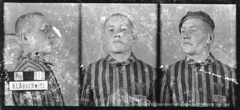 Kazimierz Piechowski, zdjęcie wykonane przez obozowe gestapo