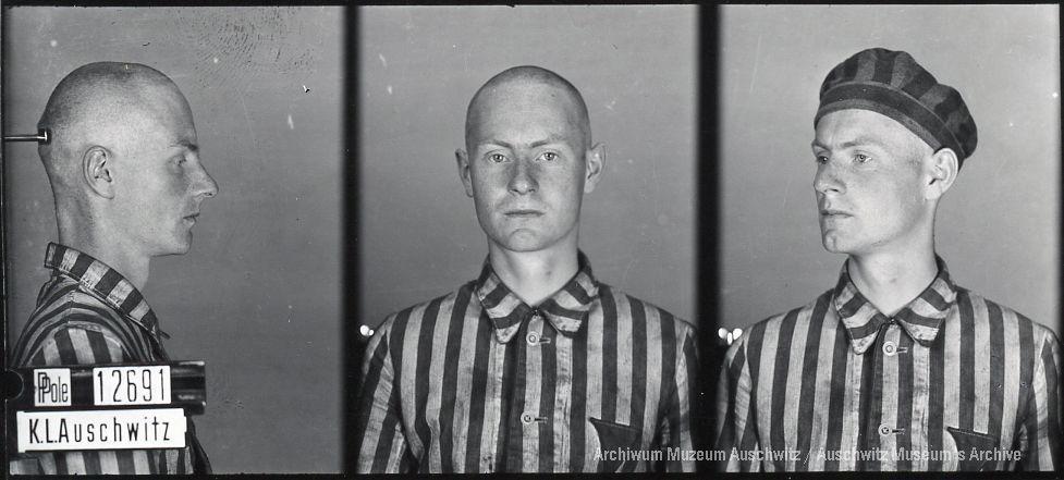Stanisław Maringe, zdjęcie wykonane przez obozowe gestapo
