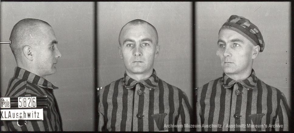 Władysław Siwek, zdjęcie wykonane przez obozowe gestapo