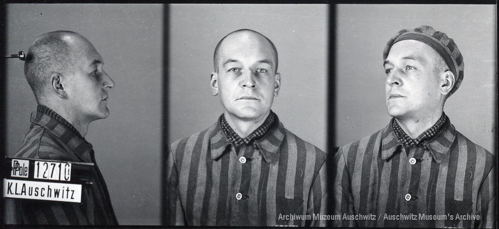 Włodzimierz Makaliński, zdjęcie wykonane przez obozowe gestapo