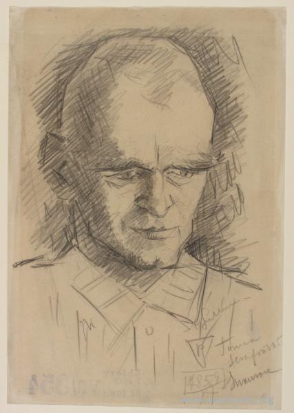 Portret Witolda Pileckiego, wykonany przez Stanisław Gutkiewicza w 1942 r.