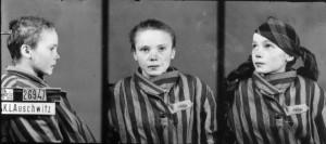 Czesława Kwoka, zdjęcie wykonane przez obozowe gestapo