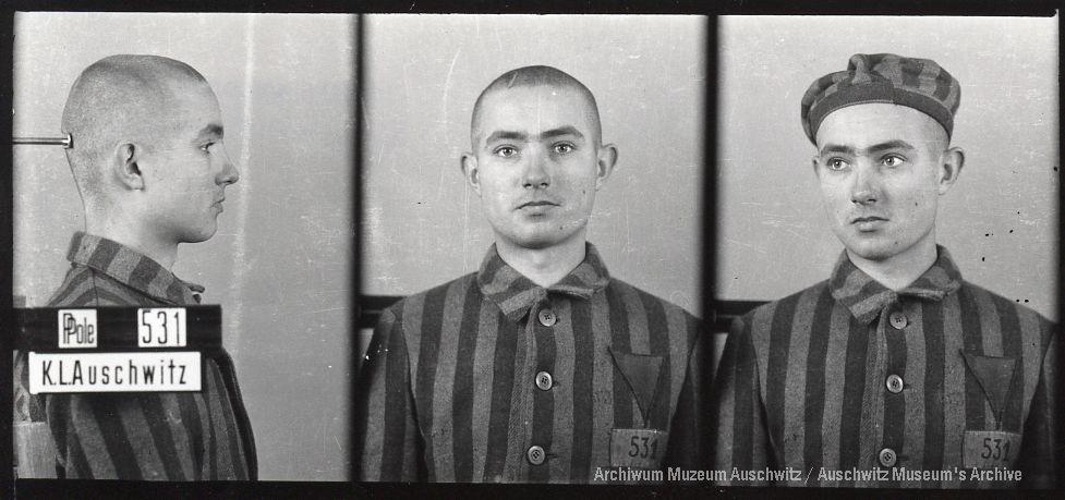 Edek Galiński, zdjęcie wykonane przez obozowe gestapo