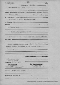 Obozowy akt zgonu Jana Łydki