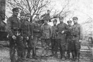 Jan Łydka (z lewej), Wołyń-1916 r.